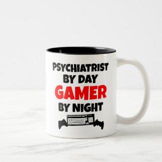 Gamer-Psychiater Zweifarbige Tasse