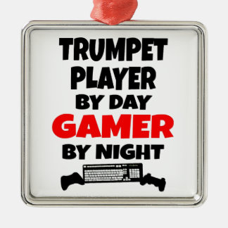 Gamer-Trompeter Silbernes Ornament