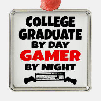 Gamer-Uni-Absolvent Silbernes Ornament
