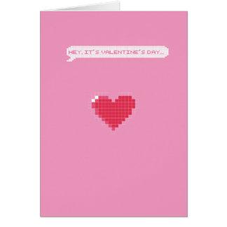 Gamer-Valentinstag - ich pausiere mein Spiel für Grußkarte