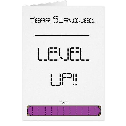 Gamer-waagerecht ausgerichtete hohe Geburtstags-Ka Grußkarten