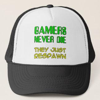 Gamers die nie sie Respawn lustiger Truckerkappe