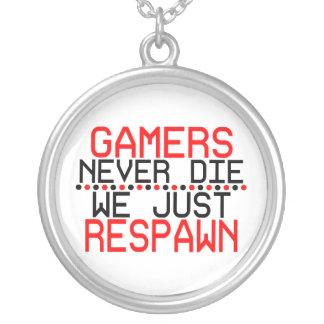 Gamers Respawn Halskette Mit Rundem Anhänger