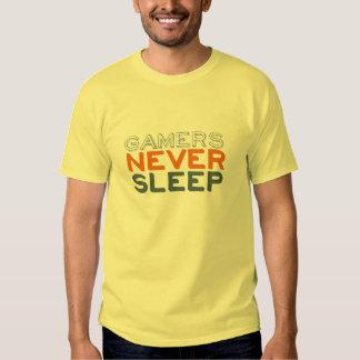 Gamers schlafen nie lustiger gelber T - Shirt