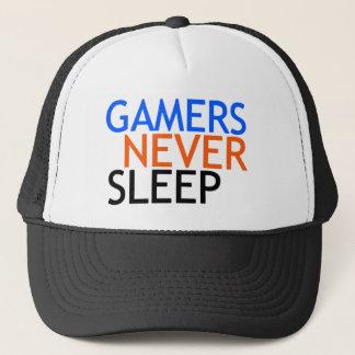 Gamers schlafen nie truckerkappe