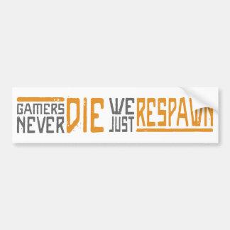 Gamers sterben nie - Art 1 Auto Sticker