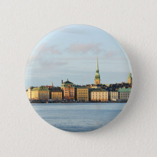 Gamla Stan in Stockholm, Schweden Runder Button 5,1 Cm