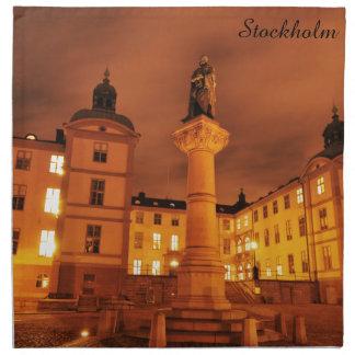 Gamla Stan in Stockholm, Schweden Stoffserviette