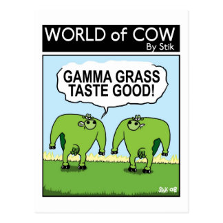 GAMMA-GRAS SCHMECKT GUT! POSTKARTE