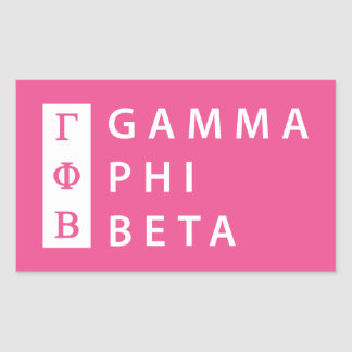 Gamma-Phi-Beta gestapelt Rechteckiger Aufkleber