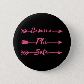 Gamma-Phi-Betapfeil Runder Button 5,1 Cm