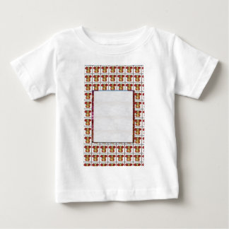 GANAPATI Ganesh: Weißes Grenztext-Kristallbild Baby T-shirt