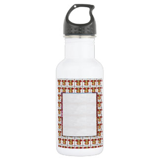 GANAPATI Ganesh: Weißes Grenztext-Kristallbild Trinkflaschen