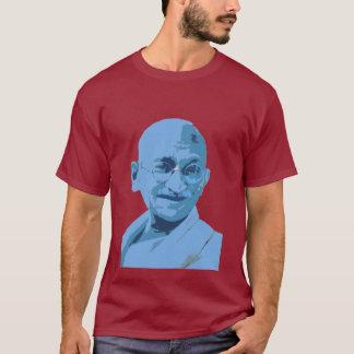 gandhi Blau T-Shirt