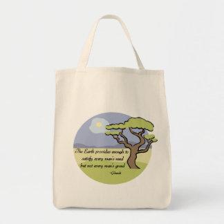 Gandhi Erdzitat-Bio Taschen-Tasche Einkaufstasche