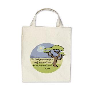 Gandhi Erdzitat-Bio Taschen-Tasche
