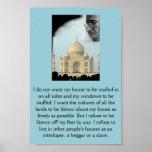Gandhi: Ich will die Kulturen aller Länder… Plakatdrucke