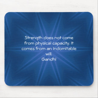 Gandhi Inspirational motivierend Zitat Mousepad