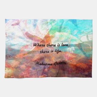 Gandhi Inspirational Zitat über Liebe, das Leben Geschirrtuch