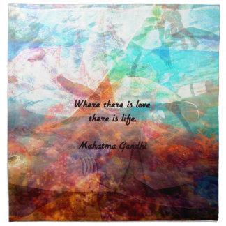 Gandhi Inspirational Zitat über Liebe, das Leben Serviette
