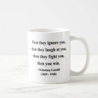 Gandhi Zitat 5a Kaffeetasse