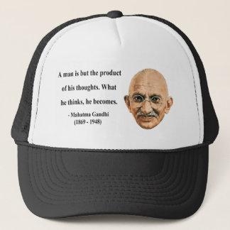 Gandhi Zitat 8b Truckerkappe