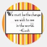 Gandhi Zitat-Aufkleber