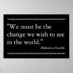 Gandhi Zitat Posterdruck