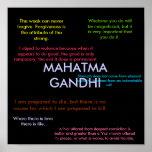 Gandhi Zitate Posterdrucke