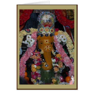 Ganesh Foto Diwali Karte - Porträt