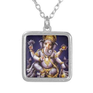 Ganesh Ganesha asiatischer Elefant-Gottheit Versilberte Kette