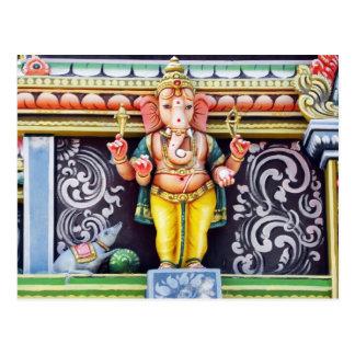 Ganesh Idol-Skulptur Postkarte