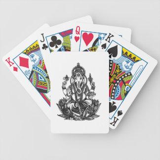 Ganesh Illustration Bicycle Spielkarten