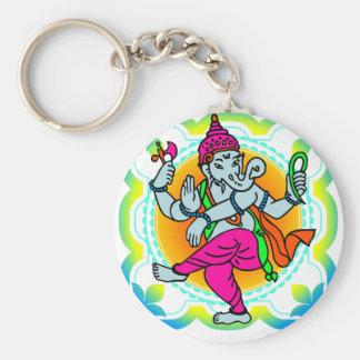Ganesh im bunten Entwurf des Regenbogens Schlüsselanhänger