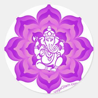 Ganesh lila Entwurf Runder Aufkleber