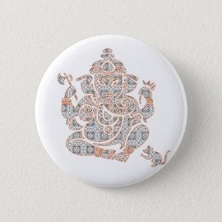 Ganesh Stärke Runder Button 5,7 Cm