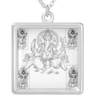 Ganesh und Shiva Versilberte Kette