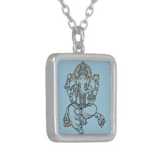 Ganesh Versilberte Kette