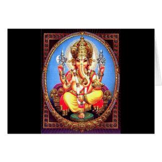 Ganesha (गणेश) indischer Elefant Karte