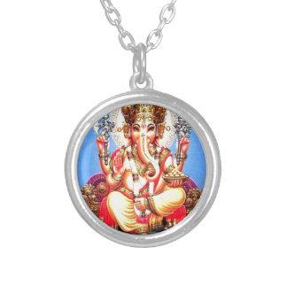 Ganesha (गणेश) indischer Elefant Versilberte Kette