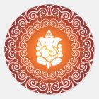 Ganesha dekorativer Entwurf Runder Aufkleber
