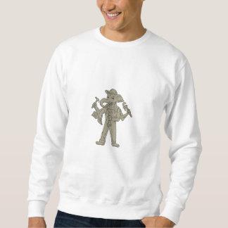 Ganesha Elefant-Heimwerker-Werkzeug-Zeichnen Sweatshirt
