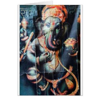 Ganesha Elefant hindischer Erfolgs-Gott Karte