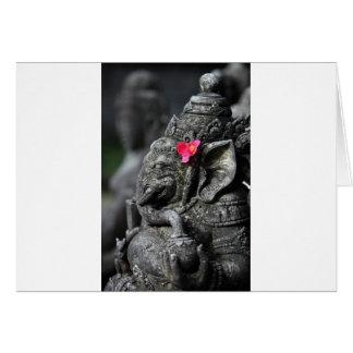 Ganesha Elefant hindischer Gott des Erfolgs Karte