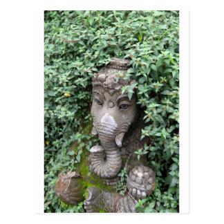 Ganesha Elefant hindischer Gott des Erfolgs Postkarte
