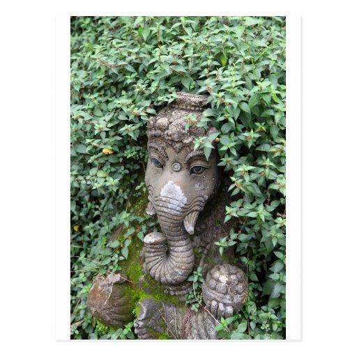Ganesha Elefant hindischer Gott des Erfolgs Postkarten