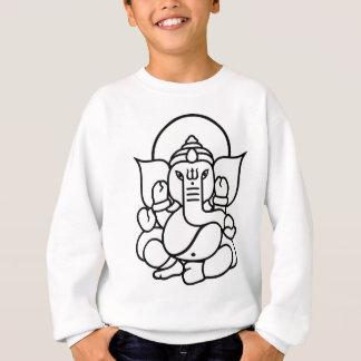 Ganesha Elefant-Nr. 3 (Schwarz-weiß) Sweatshirt