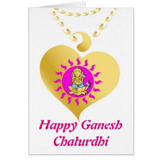 Ganesha Geburtstag Chaturthi Karte
