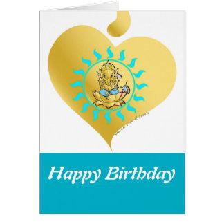 Ganesha Geburtstag Karte