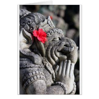 Ganesha hindische Elefantgott-Steinstatue Karte